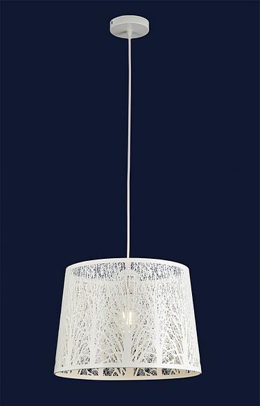 Білий підвісний світильник з різьбленим абажуром 909XL1230-1 WH