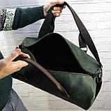 Дорожная сумка tube mini зелёная из натуральной кожи crazy horse, фото 6