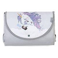 Дорожный пеленальный матрас для новорожденных Veres Unicorn love, фото 1