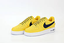 Мужские кроссовки Nike Air Force AF-1. Yellow White. ТОП Реплика ААА класса., фото 2