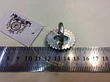 Бирюза кольцо с бирюзой 19,5-20 размер натуральная бирюза в серебре Индия, фото 5