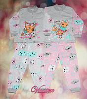 Детская пижама Карамелька/Кошка кулир, фото 1