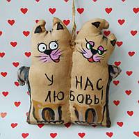 Ароматизированная мягкая игрушка Котики неразлучники ручной работы с запахом кофе, ванили и корицы.