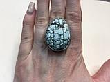 Бирюза кольцо с натуральной бирюзой в серебре 18 размер Индия, фото 2