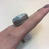 Бирюза кольцо с натуральной бирюзой в серебре 18 размер Индия, фото 3