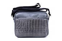 Итальянская женская сумка из натуральной кожи. Цвет: Темно-серый, фото 1