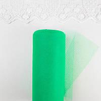 Фатин в рулоне средней жесткости ширина 15 см Зеленый