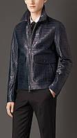 Мужская куртка кожаная из крокодила