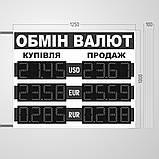 Табло обмін валют 1250х1000 мм, фото 2