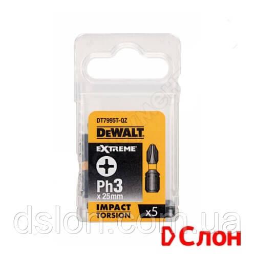 Набор  ударных бит DеWALT DT7995T, 5 шт  Ph3, L=25 мм, ITE, Philips,