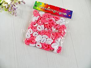 """Резинки цветные """"Калуш"""" малые бело-розовые 2 см (100 шт)"""