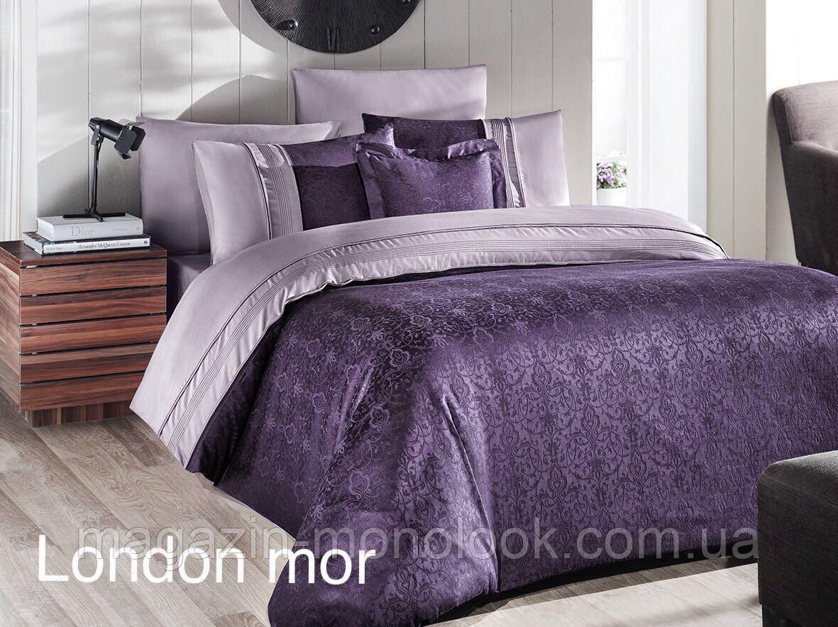 Комплект постельного  белья First choice VIP  Satin London mor