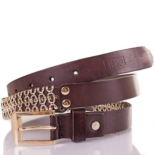 Женский кожаный ремень ETERNO (ЭТЕРНО) ETS600-10 коричневый шир. 2,5 см.