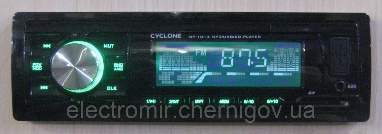 Автомагнитола Cyclone MP-1014 (зеленая подсветка)