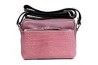 Итальянская женская сумка из натуральной кожи. Цвет: Темная пудра, фото 1