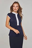 Женская блузка летняя безрукавка Lipar Синяя