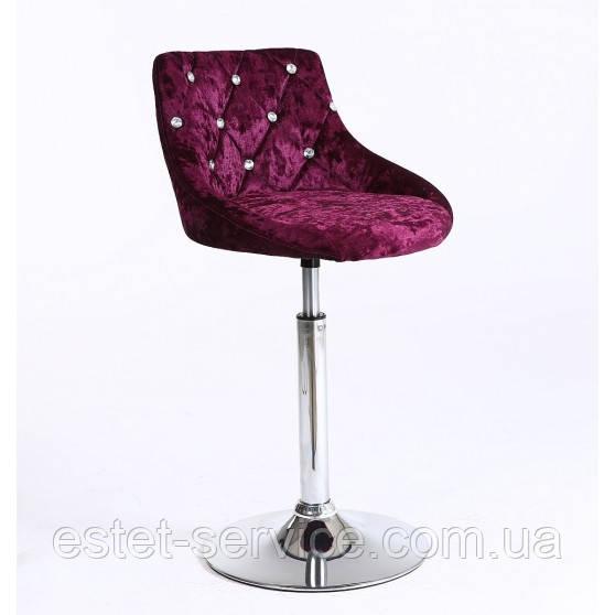 Косметическое кресло HC931N низкая барная основа в ЦВЕТАХ велюр стразы