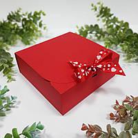 Коробка 170х170х60 мм червона