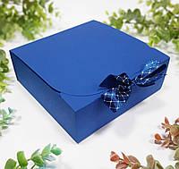 Коробка 170х170х60 мм синя