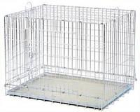 Клетка переноска для собак металлическая (91х61x72 см)(ручки)