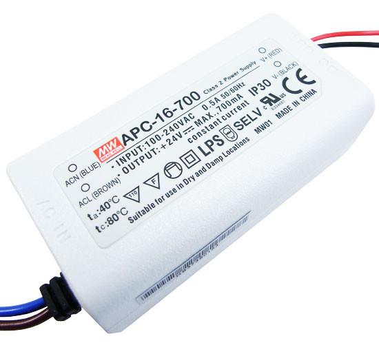 Драйвер світлодіода 700мА 16Вт 9-24вольт блок живлення APC-16-700 IP30 4175о