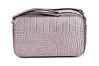 Итальянская женская сумка из натуральной кожи. Цвет: Серо-бежевая, фото 1