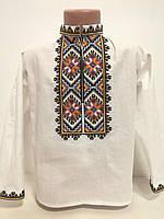 Детская белая хлопковая рубашка для мальчика с вышивкой Легинь Piccolo L