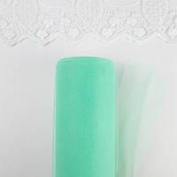 Фатин в рулоне средней жесткости ширина 15 см Светло Зеленый