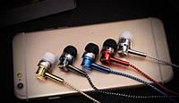 Наушники вакуумные с микрофоном DK75i, проводные наушники хорошего качества, фото 3