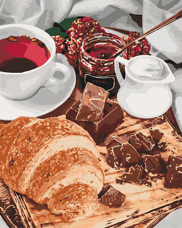 Малювання по номерах Ідейка Французький сніданок (KHO5573) 40 х 50 см (Без коробки)