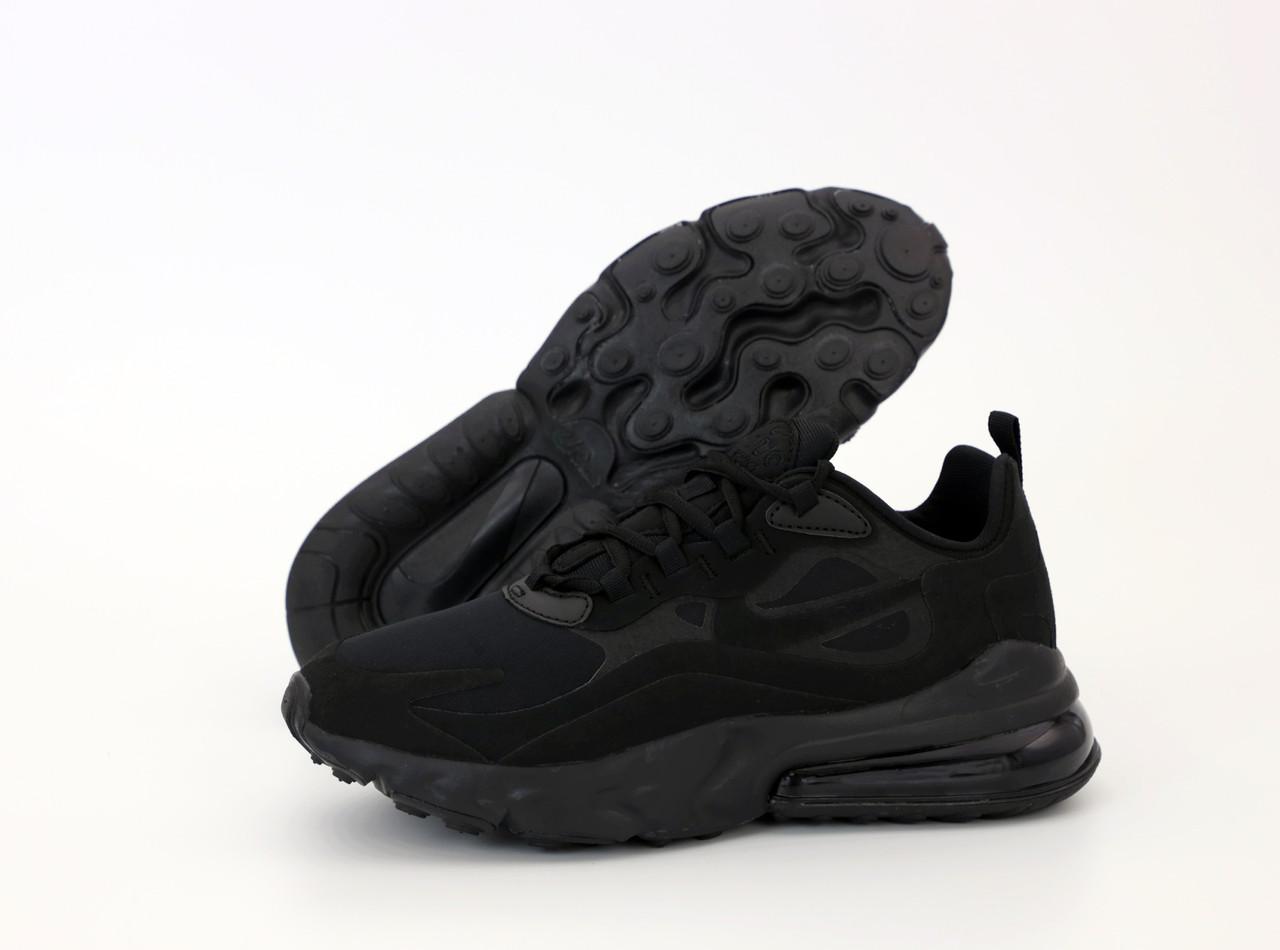 Мужские кроссовки Nike Air Max 270 React. Black . ТОП Реплика ААА класса.