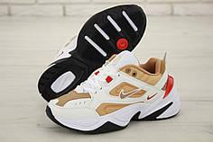 Женские кроссовки Nike M2K Tekno White Gold. ТОП реплика ААА класса.