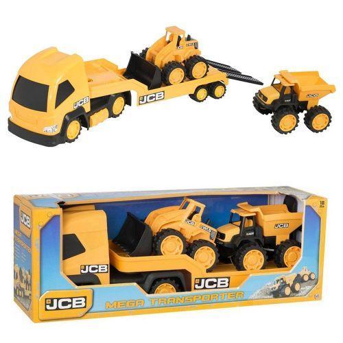 """Набор машинок """"JCB: Мегатранспортер"""" (1416075), 3 машинки"""