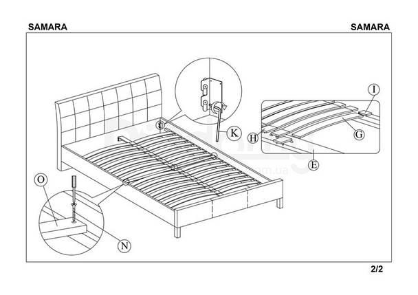Кровать SAMARA halmar черная, фото 2