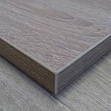 Столешница 800х500х28 мм. для откидного столика D-3025 WL дуб сонома, фото 6