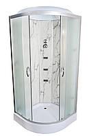 Душовий бокс TKF90/1 BG Білий Мармур 90х90х3, низький піддон, прозоре скло, А0045724