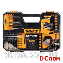 Набор бит и сверл DeWALT, 100 шт,  Pz2, Ph2, SL6/8, T25,  L= 25 мм, EXT Phillips, Pozidriv, Torx, Slotted,
