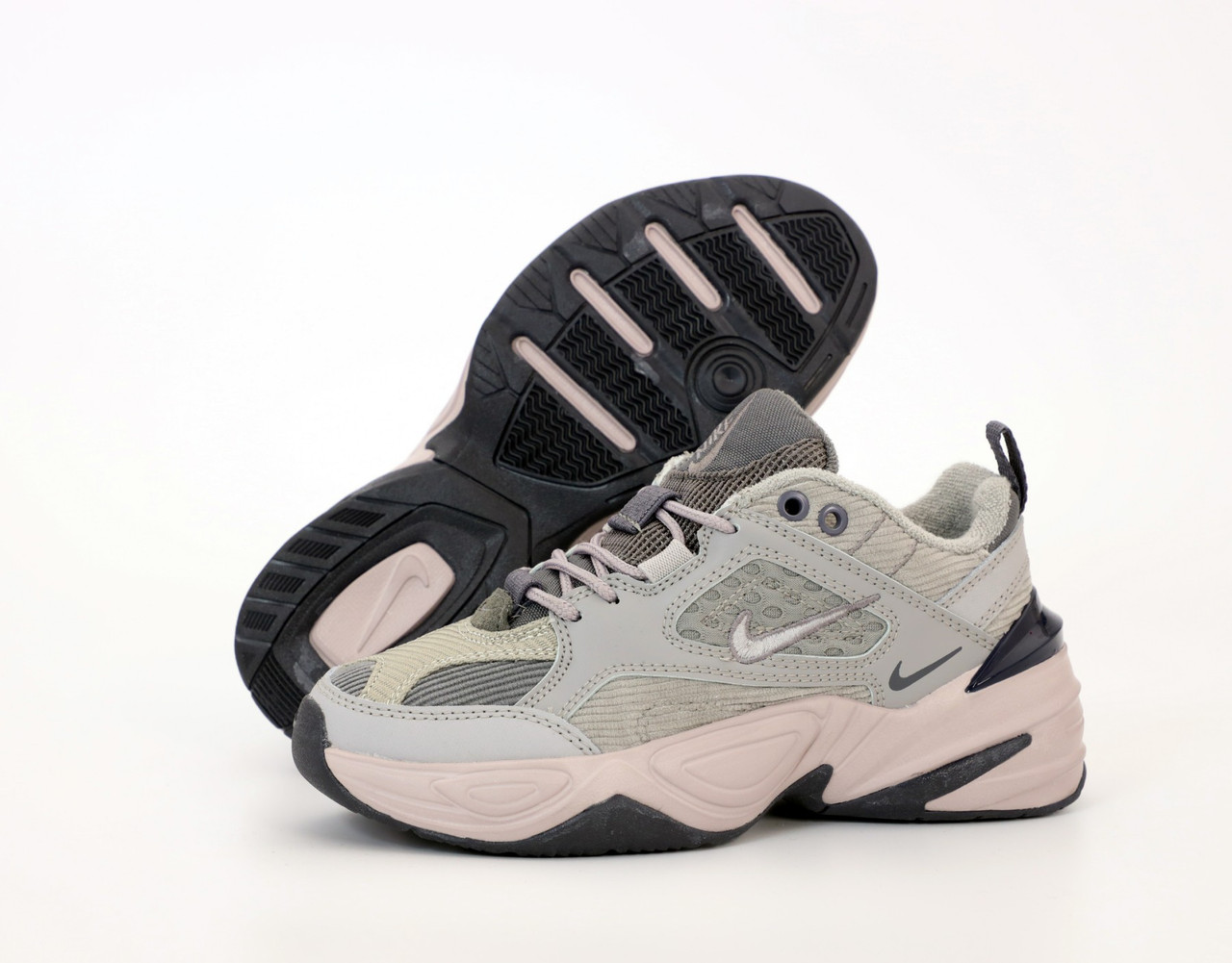 Жіночі кросівки Nike M2K Tekno. Grey. ТОП репліка ААА класу.