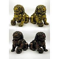 "Статуэтка ""Пара Львов"" бронза размер одного льва 18х13х22 см вес 3,32 кг 18371"