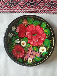 Декоративна розписна тарілка Квіти