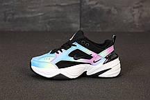 Женские кроссовки Nike M2K Tekno. Black Violet.  ТОП реплика ААА класса., фото 2