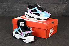 Женские кроссовки Nike M2K Tekno. Black Violet.  ТОП реплика ААА класса., фото 3