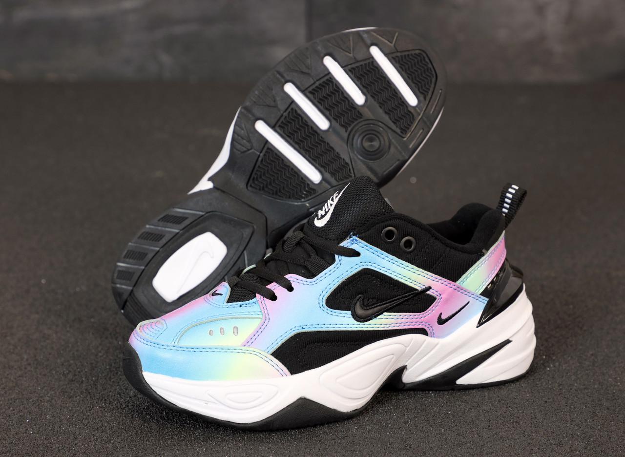 Женские кроссовки Nike M2K Tekno. Black Violet.  ТОП реплика ААА класса.