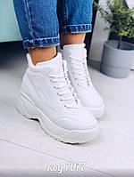 Белые высокие кроссовки 36 размер, фото 1