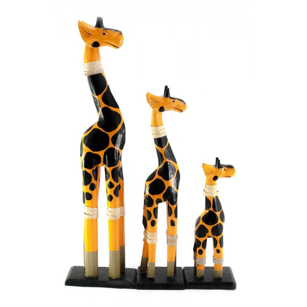 Жирафы 3 шт деревянные 40х11х5,5 см 29,5х8х5,5 см 19,5х8х6 см 29919