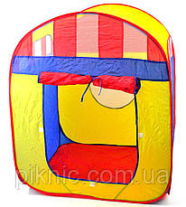 Детская палатка Волшебный домик 90х85х105 в сумке. Игровая палатка для детей, фото 3