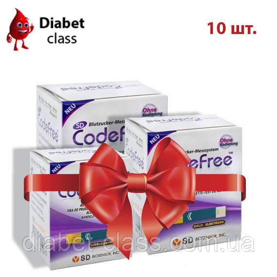 Тест-полоски SD CodeFree GlucoDr 10 упаковок