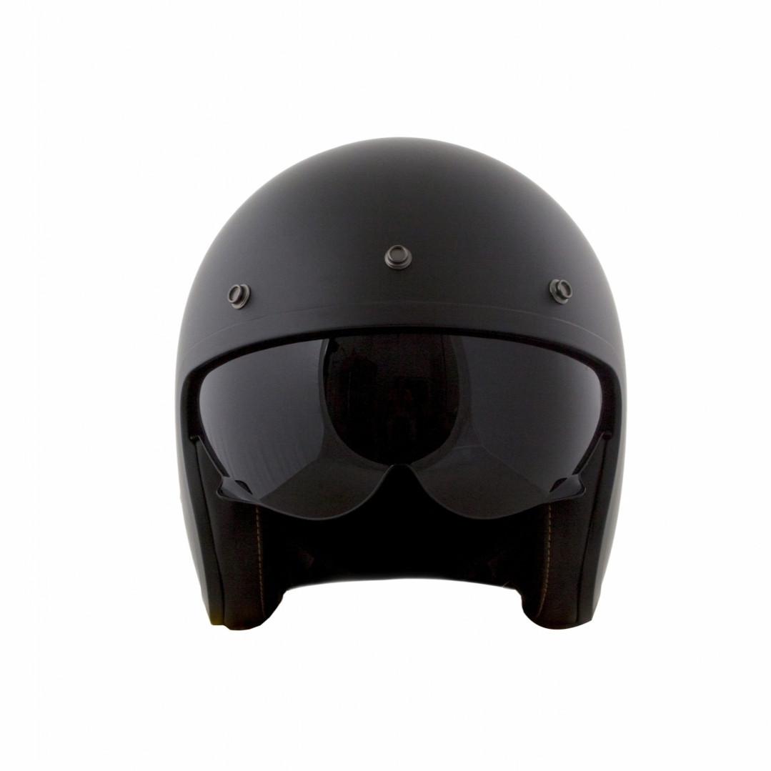 Мотошлем LS2 OF599  Matte black  Черный МАТОВЫЙ  с крепление Бабл Визора  (bubble visor)