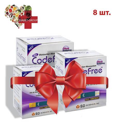 Тест-полоски SD CodeFree GlucoDr 8 упаковок, фото 2