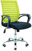 Компьютерное кресло Richman Флеш спинка-сетка салатовая на колесиках хром